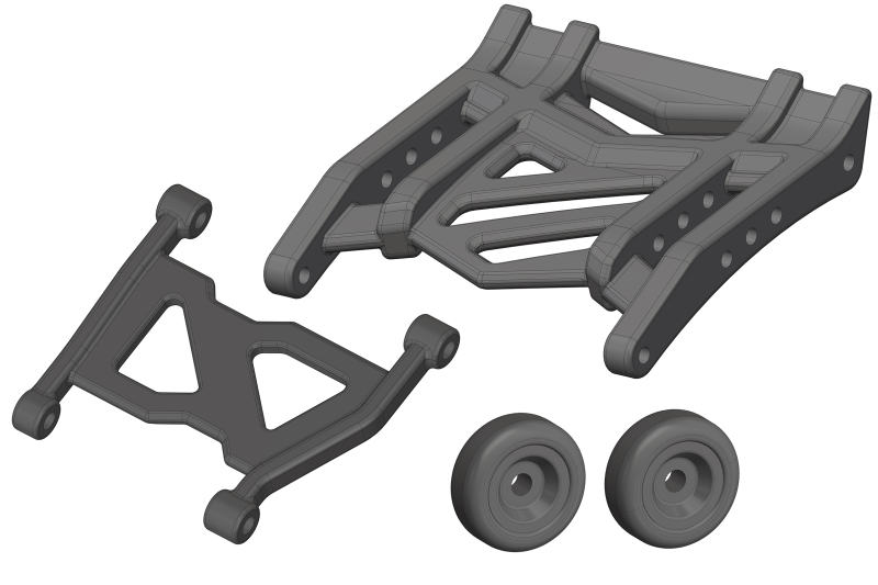 Wheelie Bar - Composite - 1 Set