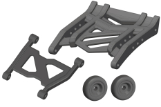 Team Corally - Wheelie Bar - Composite - 1 Set