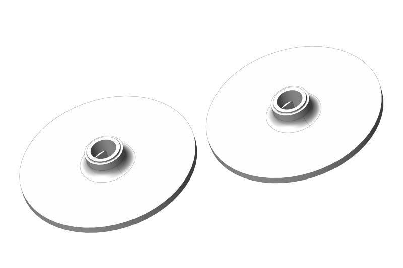 Slipper Clutch Plate - Aluminum - 2 pcs