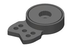 Team Corally - Servo Saver - HD Large - Universal - 23-24-25 Spline - 3 mm hole