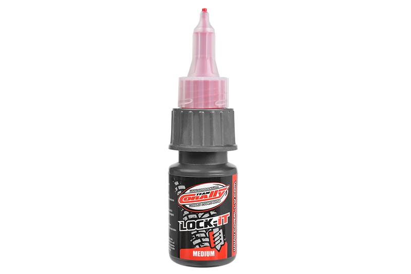 Team Corally - Lock-it 200 - Screw Fix - Medium - Red - 20gr