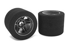Team Corally - Attack foam tires - 1/8 Circuit - 35 shore - Rear - Carbon rims - 2 pcs