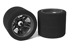 Team Corally - Attack foam tires - 1/8 SSX-8 - 32 shore - Rear - 72mm - Carbon Flex Rims - 2 pcs