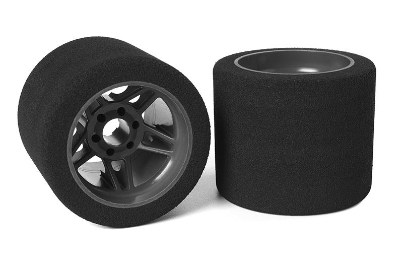 Team Corally - Attack foam tires - 1/8 SSX-8 - 35 shore - Rear - 72mm - Carbon Flex Rims - 2 pcs