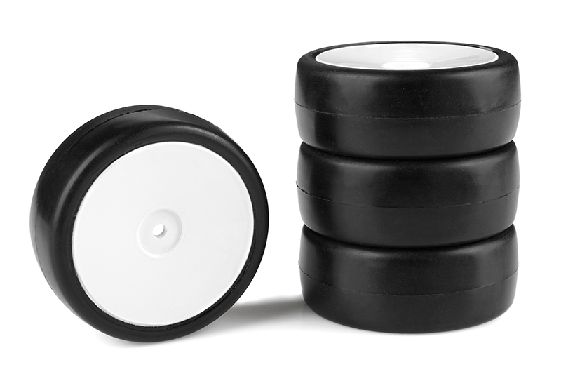 Team Corally - Attack RXA V2 rubber tires - 1/10 EP touring - 28 shore - Asphalt - 4 pcs