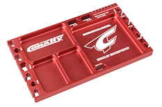 Team Corally - Multi-purpose Ultra Tray - CNC Machined aluminium - Red Color