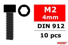 Team Corally - Steel Screws M2 x 4mm - Hex Socket Head - 10 pcs