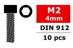 Team Corally - Socket Head Screw - DIN 912 - M2x4 - 10 pcs