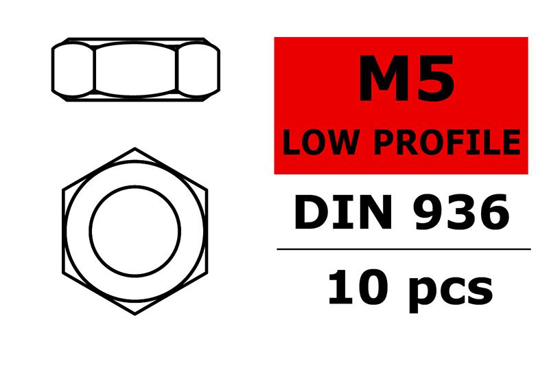 Team Corally - Low Profile Nut - M5 - 10 pcs