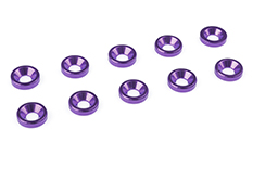 Team Corally - Aluminium Washer - for M3 Flat Head Screws - OD=8mm - Purple - 10 pcs