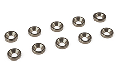 Team Corally - Aluminium Washer - for M3 Flat Head Screws - OD=8mm - Gun Metal - 10 pcs