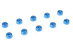 Team Corally - Aluminium Washer - for M2 Socket Head Screws - OD=6mm - Blue - 10 pcs