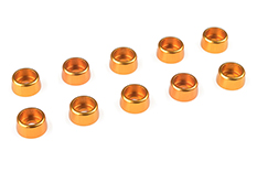 Team Corally - Aluminium Washer - for M3 Socket Head Screws - OD=8mm - Gold - 10 pcs