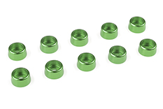 Team Corally - Aluminium Washer - for M3 Socket Head Screws - OD=8mm - Green - 10 pcs