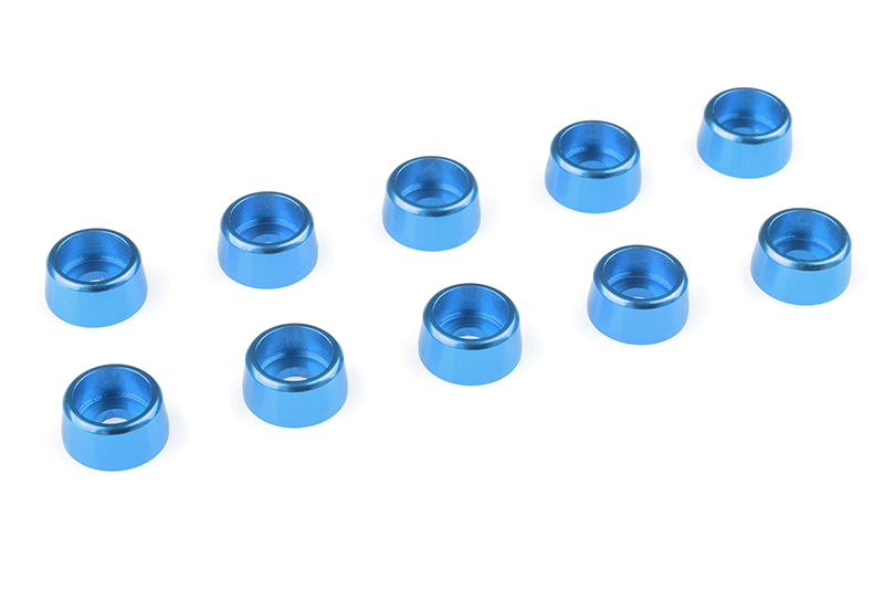 Team Corally - Aluminium Washer - for M3 Socket Head Screws - OD=8mm - Blue - 10 pcs