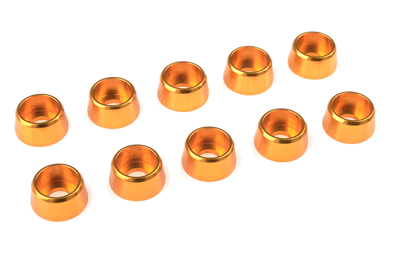 Team Corally - Aluminium Washer - for M4 Socket Head Screws - OD=10mm - Gold - 10 pcs