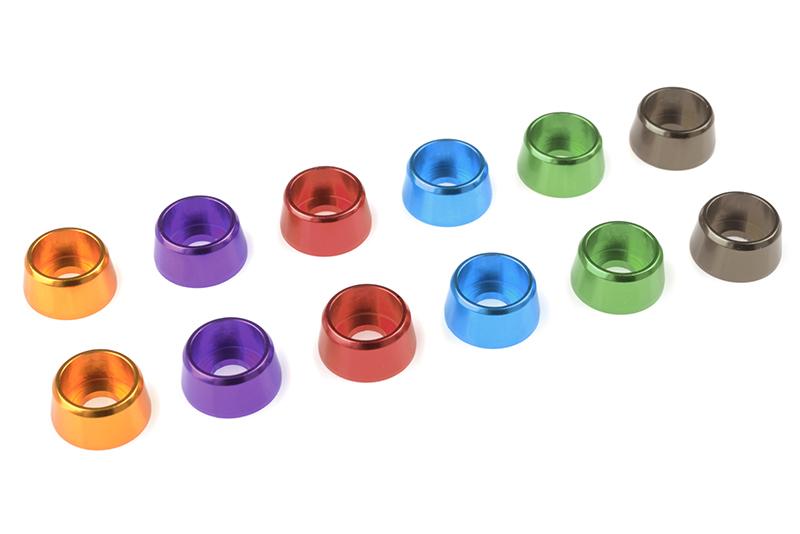 Team Corally - Aluminium Washer - for M4 Socket Head Screws - OD=10mm - Gold - 10 pcs