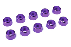 Team Corally - Aluminium Washer - for M4 Socket Head Screws - OD=10mm - Purple - 10 pcs