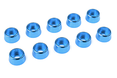 Team Corally - Aluminium Washer - for M4 Socket Head Screws - OD=10mm - Blue - 10 pcs