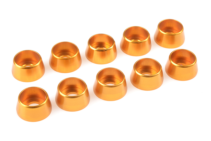 Team Corally - Aluminium Washer - for M5 Socket Head Screws - OD=12mm - Gold - 10 pcs