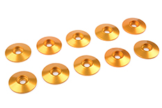 Team Corally - Aluminium Washer - for M3 Button Head Screws - OD=15mm - Gold - 10 pcs