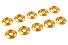 Team Corally - Aluminium Washer - for M4 Button Head Screws - OD=12mm - Gold - 10 pcs