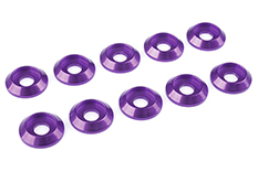 Team Corally - Aluminium Washer - for M4 Button Head Screws - OD=12mm - Purple - 10 pcs