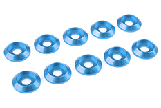 Team Corally - Aluminium Washer - for M4 Button Head Screws - OD=12mm - Blue - 10 pcs