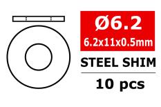 Team Corally - Steel Metric Shim - 6,2x11x0,5mm - 10 pcs
