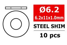 Team Corally - Steel Metric Shim - 6,2x11x1,0mm - 10 pcs