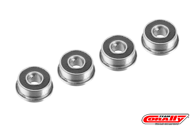 Team Corally - Ball Bearing ABEC 3 - 1/8 x 5/16 - Flanged - 4 pcs