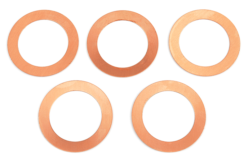 Team Corally - Head Shim 0.1mm Etor 21 3P and Etor 21 5-2P - 5 pcs