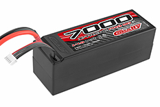 Team Corally - X-Treme Pro 90C - 7000 mAh - 14,8V 4S - Competition Li-Po Battery Pack - Stick Hardcase - 12AWG Wire - T-Plug Connector