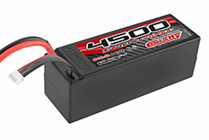 Team Corally - X-Treme Pro 90C - 4500 mAh - 22,2V 6S - Competition Li-Po Battery Pack - Stick Hardcase - 12AWG Wire - T-Plug Connector