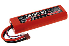 Team Corally - Sport Racing 45C - 4000 mAh - 7,4V 2S - Competition Li-Po Battery Pack - Stick Hardcase - 12AWG Wire - T-Plug Connector