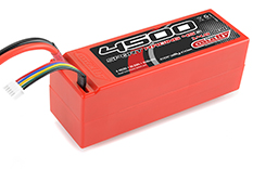 Team Corally - Sport Racing 45C - 4500 mAh - 14,8V 4S - Competition Li-Po Battery Pack - Stick Hardcase - 12AWG Wire - T-Plug Connector