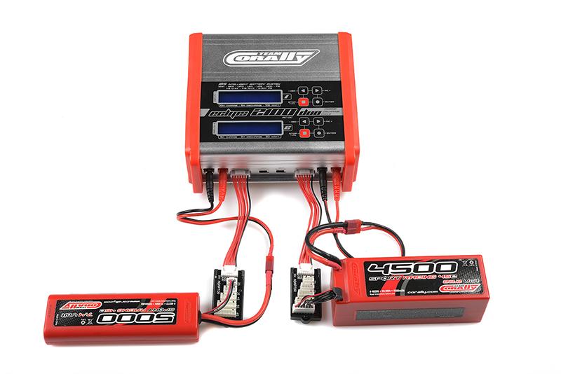 Team Corally - Charger - Eclips 2100 Duo - AC/DC - 100W Power - LCD Display - (2X) 1-6 Li-Xx - 1-15 Ni-Xx