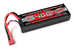 Team Corally - Sport Racing 50C - 5400Mah - 2S - 7,4V - T-Plug - Hard Case