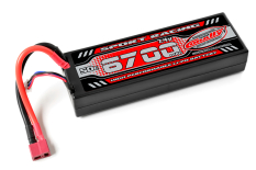 Team Corally - Sport Racing 50C - 6700Mah - 2S - 7,4V - T-Plug - Hard Case