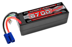 Team Corally - Sport Racing 50C - 6700Mah - 4S - 14,8V - EC-5 - Hard Case