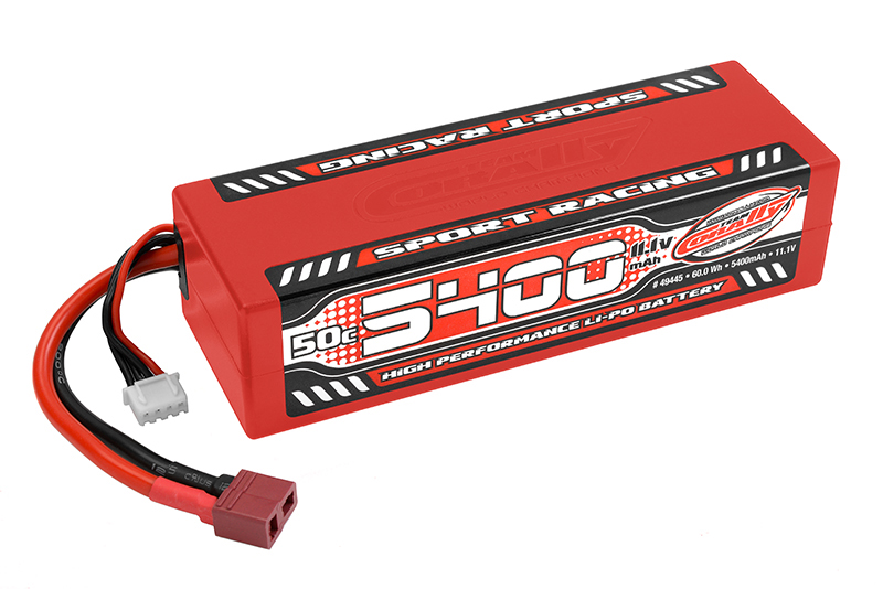 Team Corally - Sport Racing 50C LiPo Battery - 5400mAh - 11.1V - Stick 3S - Hard Wire - T-Plug
