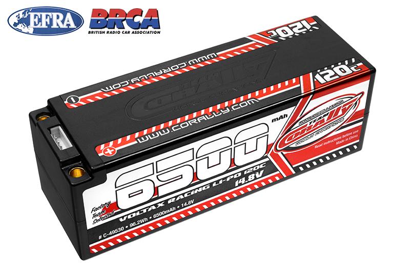 Team Corally - Voltax 120C LiPo Battery - 6500mAh - 14.8V - Stick 4S - 5mm Bullit
