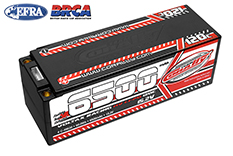 Team Corally - Voltax 120C LiPo HV Battery - 6500 mAh - 15.2V - Stick 4S - 5mm Bullit