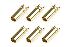 Team Corally - Bullit Connector 5.0mm - Female - Gold Plated - Ultra Low Resistance  - 6 pcs