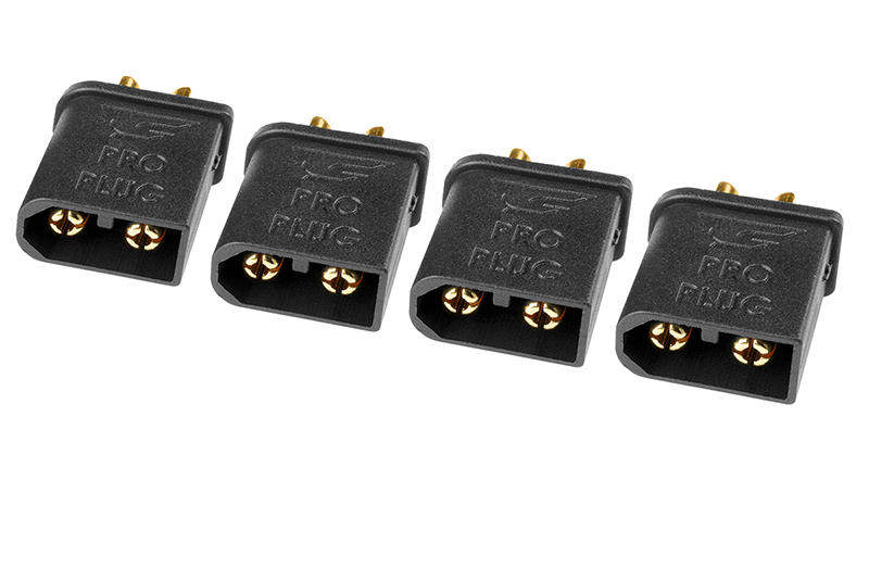 Team Corally - TC PRO Connector 3.5mm - Gold Plated Connectors - Reverse polarity protection -  Female - 4 Pcs