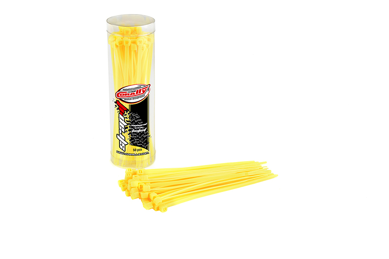 Team Corally - Strap-it - Cable Tie Raps - Yellow - 2.5x100mm - 50 pcs