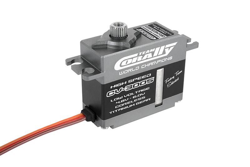 Team Corally - CV-3005 LV High Speed Mini Servo - Low Voltage - Coreless Motor - Titanium Gear - Ball Beared - Full Alloy Case