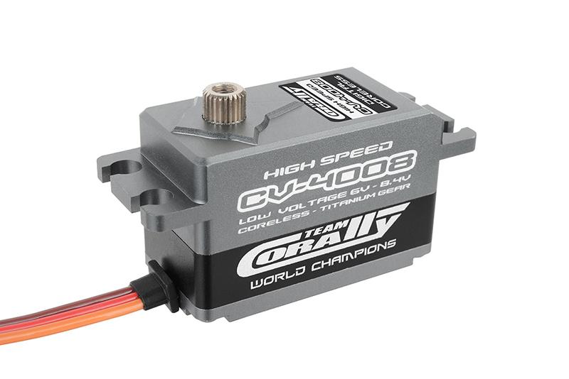 Team Corally - CV-4008 LV High Speed Low CG Servo - Low Voltage - Coreless Motor - Titanium Gear - Ball Beared - Full Alloy Case