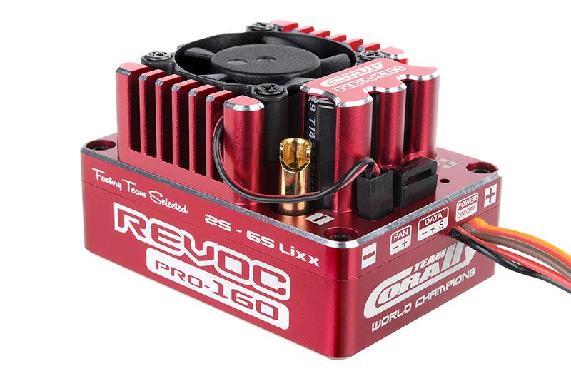 "Team Corally - Revoc PRO 160 ""Racing Factory"" - 2-6S Esc For Sensored And Sensorless Motors - 160A"