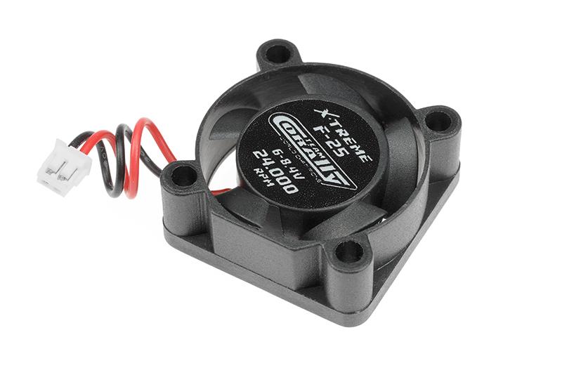 Team Corally - ESC Ultra High Speed Cooling Fan 25mm - 6v-8,4V - Dual ball bearings - ESC connector